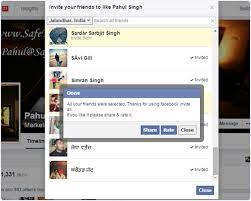 how to invite all friends to like page