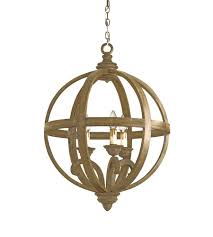 currey company 9133 axel 3 light 24 inch chestnut orb chandelier ceiling light photo