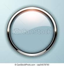 Glossy Button Grey Glossy Button Grey With Metallic Elements