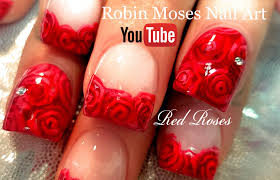 Robin Moses Nail Art: DIY Easy Red Rose Nails | Romantic Roses ...