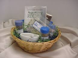 picture of wrapped cooking gift basket unwrapped cooking gift basket