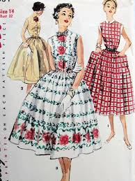 Simplicity Patterns Adorable 48s Pretty Dress Pattern SIMPLICITY 48 Three Style Versions Easy