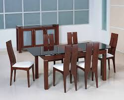 glass dining table with wooden chairs. wooden dining table design with glass top chairs i