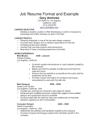 Work Resume Examples Examples Of Simple Work Resumes Gentileforda 6