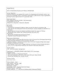 Free Sample Resume Stunning Mba Resume Sample Datainfo
