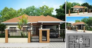 adorable bungalow house design in philippines 10 bungalow single story modern house with floor plans and