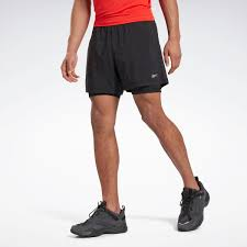 Reebok Шорты Running Essentials <b>Two</b>-in-<b>One</b> Shorts - черный ...