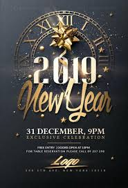 New Year Flyers Template Classy New Year Psd Flyer Templates