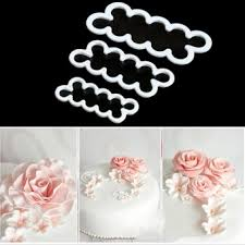 Buy 4pcs Flower Cake Cutter Cookie Sugarcraft Fondant Decorating