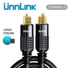 Buy Online Unnlink HIFI 5.1 SPDIF Fiber Toslink Optical Cable Audio 1m 2m  8m 10m for TV box PS4 Speaker Wire Soundbar Amplifier Subwoofer ▻ Alitools