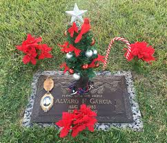 Cemetery Christmas Tree With Lights Cemetery Christmas Tree Grave Marker Vase Decorations 2017