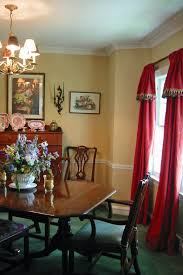 Cool Vintage Dining Room Wall Paint Color Ideas With Soft Yellow Ideas  Overlooking With Red Vertical Curtain