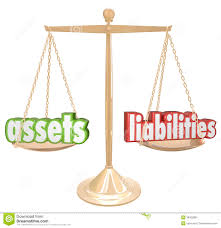 Assets Vs Liabilities Words Scale Comparing Value Wealth Account