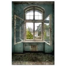 Alte Fenster Abdichten Premium Acrylglasbild Mit Motiv Altes Garten