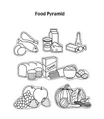 Small Picture Preschooler Food Pyramid Coloring Pages Download Print Online