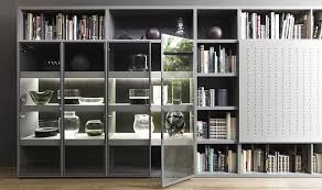 view in gallery gorgeous display in the wall unit with glass doors