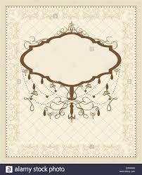 Vintage Einladungskarte Mit Verzierten Elegante Retro
