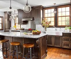 dark oak kitchen cabinets. Dark-Stained Oak Dark Kitchen Cabinets A