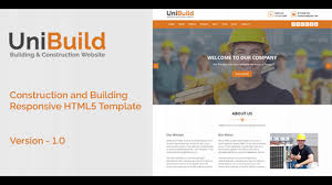 Construction Website Templates UniBuild Construction And Building Responsive HTML24 Template 8