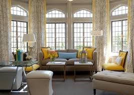 accent blue yellow living room