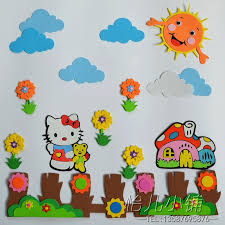creative kindergarten school wall decoration 15