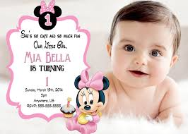 minnie mouse 1st birthday invitations your inspiration in generating creative ideas 20