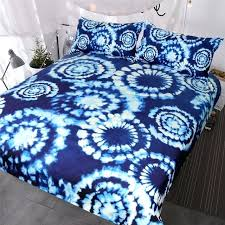 tie dye bed sheets diy 3 blue bedding set indigo bedspreads chic and white watercolor