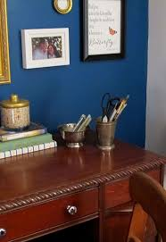 home office dark blue gallery wall. Home Office Dark Blue Gallery Wall. Contemporary Wall