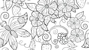 Timely Coloring Pages Of Flowers And Butterflies Flower Butterfly