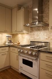 Kitchen With Subway Tile Backsplash Decoration