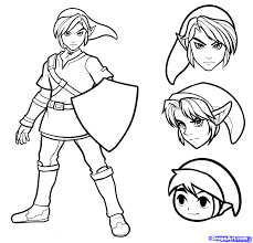How to draw link easy step 9 phots pinterest game character