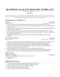 Project Analyst Resume Sample Business Analyst Resume Business
