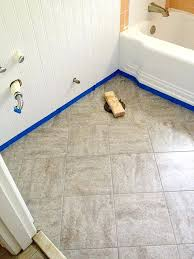 l and stick floor tile bathroom redo grouted l and stick floor tiles this is