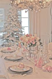 French Country Cottage::Pink Christmas Table Setting Ideas~ shabby n chic  christmas decoration decor inspiration