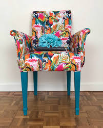 reserved parrot print armchair bright coloured armchair occasional chair upholstered chair armchair vinterior