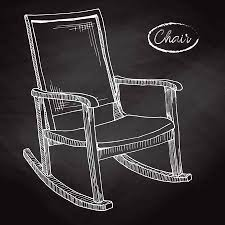 rocking chair sketch. Brilliant Sketch Rocking Chair Sketch A Comfortable Vector Illustration Stock   102869092 Intended Chair