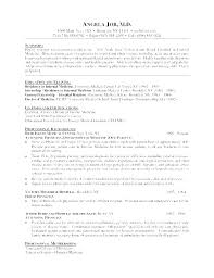 Physician Resume Template Doctor Curriculum Vitae Dental