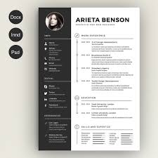 Free Resume With Photo Template Creative Resume Templates 100 Free Resume Template For Graphic 54