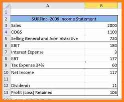 excel income statement 12 pro forma income statement template excel sql print statement