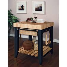 Kitchen Islands And Carts Furniture Powell Color Story Antique Black Butcher Block Kitchen Island