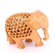 hand crafted indian royal elephant wooden jali car