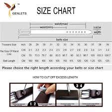 Belt Size 110 Chart Luxury Genuine Leather Belt Men Vintage Leather Belts Mens