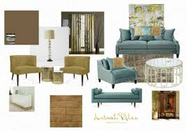 Teal And Green Living Room Mood Board Color Scheme Turquoise Mustard Yellow Brown Blues