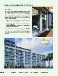 nfrc rating glass and aluminum sliding doors 1