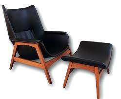 modern chair with ottoman mid century modern solid walnut black lounge chair ottoman belham living matthias modern chair with ottoman