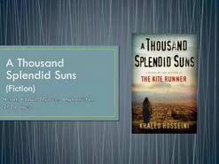 essay on a thousand splendid suns  essay on a thousand splendid suns