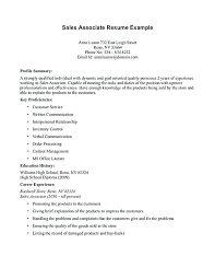 Examples Of Resumes For Sales Associate Retail Sales Assistant