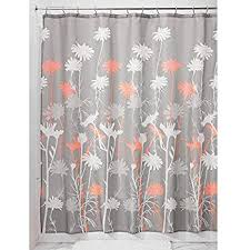 coral and brown shower curtain. interdesign daizy shower curtain, gray and coral, 72 x 72-inch coral brown curtain