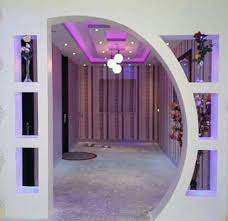 pop arches wall design ideas house