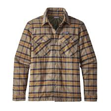 Patagonia Men's Insulated Fjord Flannel Jacket & M's Insulated Fjord Flannel Jacket, Migration Plaid: Mojave Khaki ... Adamdwight.com